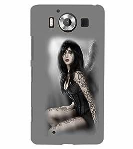 PrintVisa Hot & Sexy Angel Girl 3D Hard Polycarbonate Designer Back Case Cover for Nokia Lumia 950