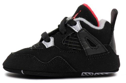 Air Jordan Crib 4 Retro (Gp) Bred Black Red 487219-089 2c