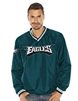 "Philadelphia Eagles NFL Men's ""Stop & Go"" Wordmark Pullover Embroidered Jacket from G-III"