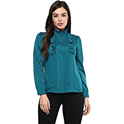 STYLEBAY Women Teal Crepe Top (CST014, Small)