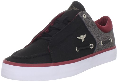 Creative Recreation Men's Luchese-CR18822 Sneaker,Black/Grey/Red,9.5 M US