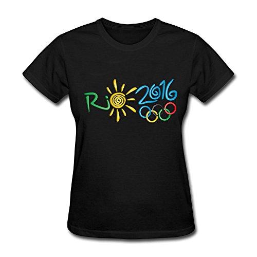Women's 2016 Summer Olympics Rio de Janeiro T-shirt Black