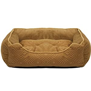 Mool Rectangular Cushioned Dog Bed, Width: 50 cm (20 inches), Light Brown