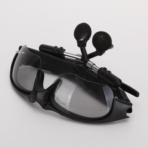 New 4Gb Black Sunglasses Sun Glass Headset Handsfree Wireless Sports Mp3 Player