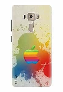 Noise Designer Printed Case / Cover for Asus Zenfone 3 ZE552KL With 5.5 Inches Screen / Graffiti & Illustrations / Elegant Apple