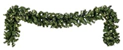 "50' x 12"" Commercial Pre-Lit Douglas Fir Artificial Christmas Garland - Clear"