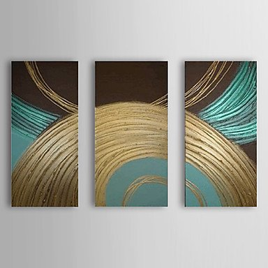 sanbay-art-100-hand-painted-oil-paintings-on-canvas-hot-sale-elegant-blue-and-golden-lines-wood-fram