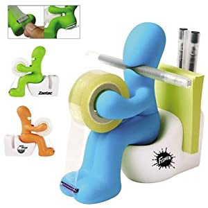 Gag tape dispenser, post-it and paper clip holder