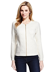 M&S Collection Quilted Bomber Cardigan