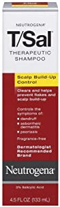 Neutrogena T/Sal Shampoo, Scalp Build-up Control, 4.5 fl oz