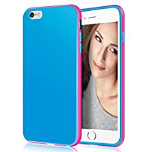 buy Iphone 6 Case, Apple Iphone 6 4.7 Inch Ultra Slim Case Shockproof Tpu Cover Bumper Case [Soft Shell Skin With Anti-Scratch Smartphone Protection] High Quality Cell Phone Accessories On Amazon By Lohi(Tm) (Blue/Hot Pink)