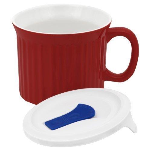 CorningWare 20 oz. Red Mug With Lid (Corning Ware 20oz Mug compare prices)
