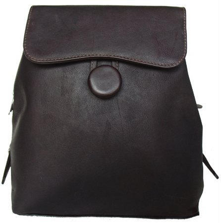 Chocolate Piel Leather Ladies Backpack