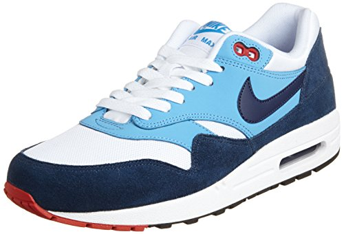 quality design 3ce04 555d3 Nike Men s Air Max 1 Essential Running Shoe, White Navy Blue, - Import It  All