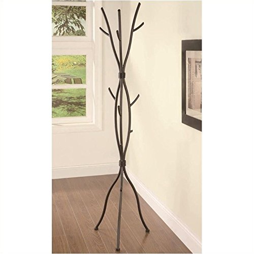 Coaster Home Furnishings Tree Branches Coat Rack, Brown (Coat Rack Tree compare prices)