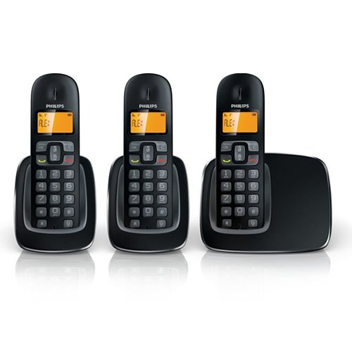 Philips BeNear CD1903B/05 Cordless Digital Phone Trio Pack, 1000 series - Black images