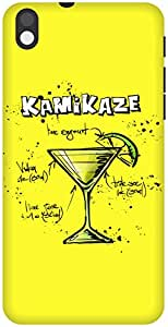 The Racoon Grip Lemon Kamikaze hard plastic printed back case / cover for HTC Desire 816