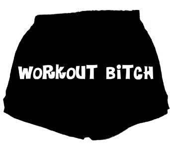 FDT Womens Fitness Workout Athletic Short-Workout Bitch-Blk Lg