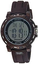Sonata Digital Grey Dial Mens Watch - 77037PP05