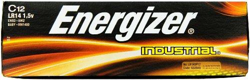 Energizer En93 Industrial C 12 Alkaline Batteries front-685754
