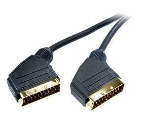 Vivanco Audio-/Videokabel, Scartstecker <-> Scartstecker, vollverschaltet, vergoldete Kontakte, 1,2m