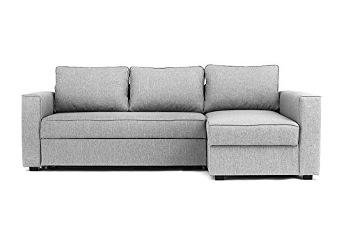 Deals For Boston Corner Sofa Bed with Storage in Grey - Sofas ...