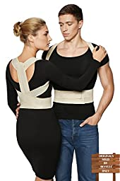 ®BeFit24 - Posture Corrector + FREE Workstation Setup Guide - Spine Alignment Kyphosis Brace for Women, Men & Kids - [Size 1] - Made in Europe - 5 Year Warranty