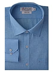 Arihant Men's Regular Fit Poly Cotton Plain Shirt (AR7129444)