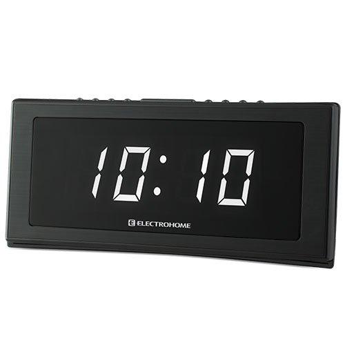 electrohome 1 8 jumbo led alarm clock radio with battery backup auto time s. Black Bedroom Furniture Sets. Home Design Ideas