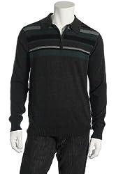 Spring + Mercer Men's Gray Half Zip Sweater