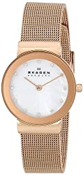 Skagen Analog Mother of Pearl Dial Womens Watch 358SRRD
