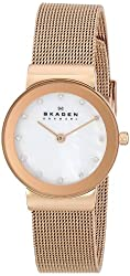 Skagen Women's 358SRRD Freja Rose Gold-Tone Stainless Steel Watch