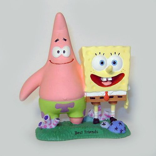 Spongebob and Patrick Best Friends Statue - 1