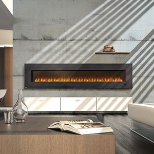 """Napoleon Efl100 100"""" Electric Fireplace Insert With Glass"""