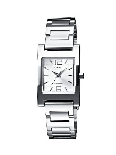 Casio LTP-1283D-7AEF Ladies Watch Quartz Analogue White Dial Silver Steel Strap