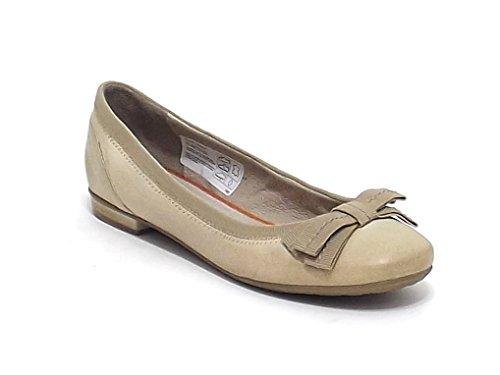 Manas Lea Foscati scarpa donna, ballerina in pelle e tessuto, colore latte