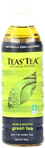 Teas' Tea, Unsweetened Green Tea, 16.9 Ounce (Pack of 12)