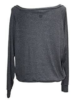 YogaColors Black Heart Tri-Blend Light Weight Raglan Pullover BR394 (X-Large, Tri-Black)