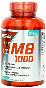 Met-RX HMB 1000 Diet Supplement Capsules, 90 Count