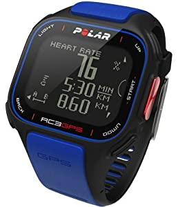 Buy Polar RC3 GPS Running Watch with Heart Rate Monitor, Blue by Polar