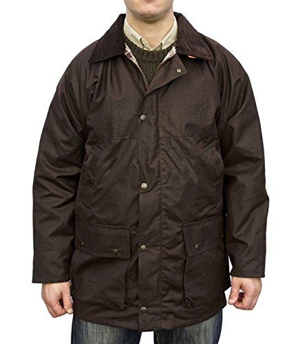 hunter-outdoor-new-england-jaeger-unpadded-unisex-mens-ladies-wax-jacket-medium-brown