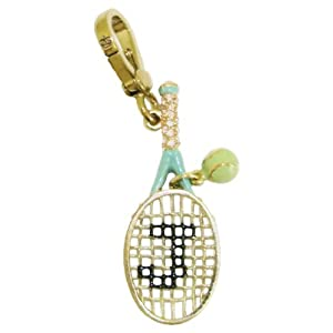 Juicy Couture Gold Tennis Racquet Bracelet Charm