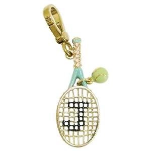 Juicy Couture Gold Tennis Racquet Bracelet Charm