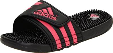 adidas Women's Adissage W Sandal,Black/Fresh Pink/Black,5 C US