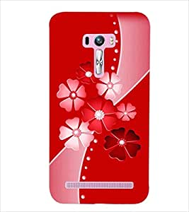 PrintDhaba FLOWERS D-6101 Back Case Cover for ASUS ZENFONE SELFIE ZD551KL (Multi-Coloured)