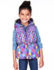 Shower Resistant Spotted & Hooded Gilet