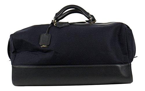 brioni-navy-blue-herringbone-cashmere-leather-bradley-duffle-bag