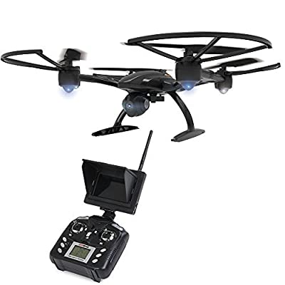 Fochutech 5.8Ghz FPV JXD 509G Headless Aerial 6Axis 4CH RC Quadcopter RTF 2MP Camera Drone With 4Pcs Extra 800Mah Battery