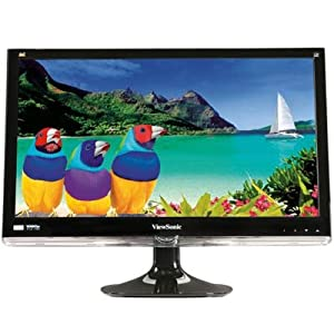 Viewsonic VX2450WM 24IN WS LED LCD 1920X1080 VGA/DVI 1080P 16.7 Million Colors - 300 Nit - 1,000:1 - Speakers - DVI - VGA - Black - WEEE, RoHS, Energy Star with FREE 6FT Premium High Speed HDMI Cable