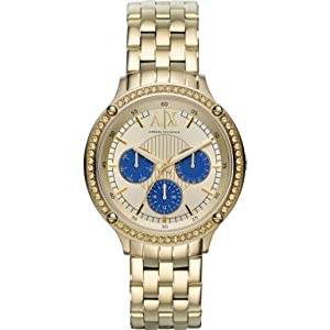 Armani Exchange AX5409 Ladies Capistrano Gold Steel Braceelt Watch